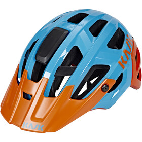 Kask Rex Casque, light blue/orange